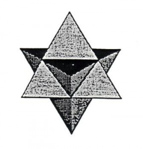 The merkaba or star-tetrahedron.