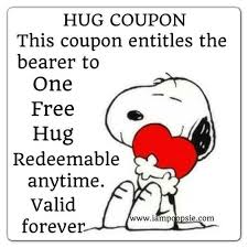 hug coupon snoopy