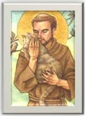 St. Francis, protector and healer of animals.